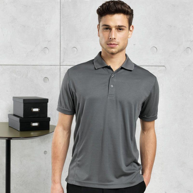 Men's Coolchecker™ Pique Bar & Restaurant Polo Shirt