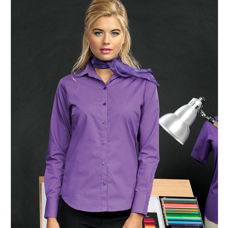 Women's Poplin Long Sleeve Bar & Restaurant Blouse