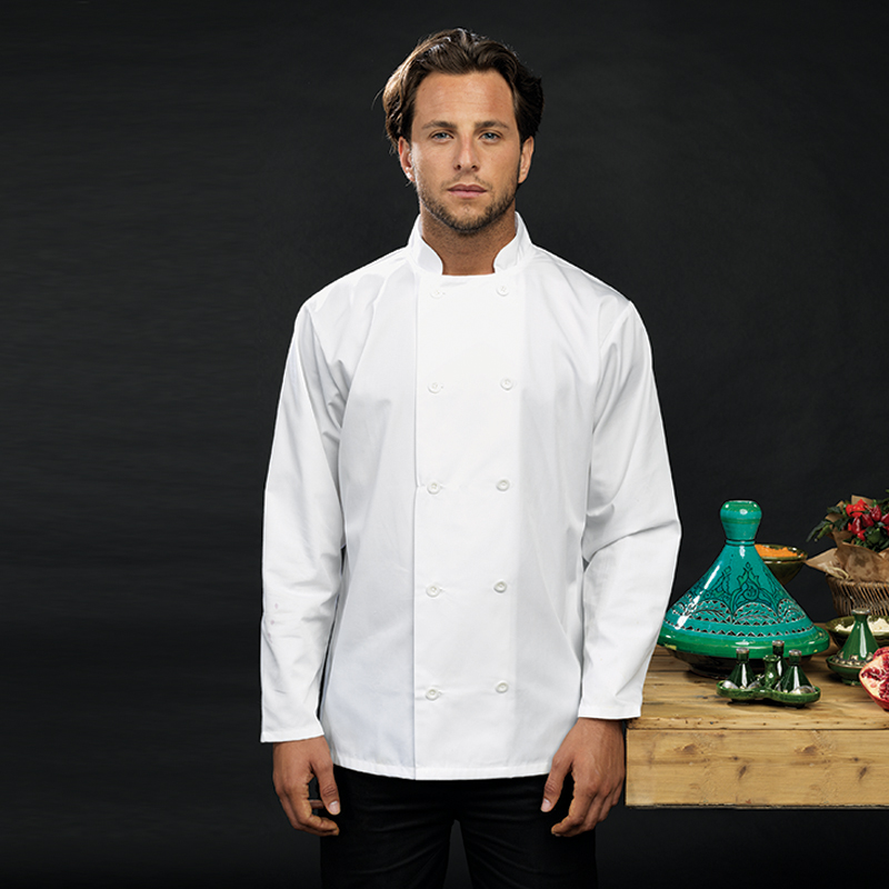 Long sleeve personalised chef's jacket